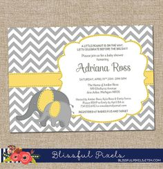 Baby Shower Invitation and Registry Card Woodland Baby Bear