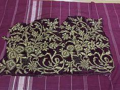 ottoman silk velvet gold metallic bindallı 2 part