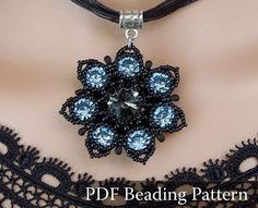 Drow Queen Flower Pendant Beading pattern Seven-Colored