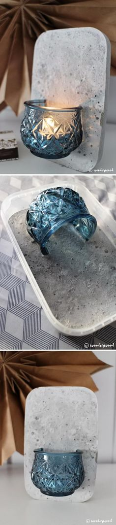30 DIY Concrete Projects for Your Garden Category diy garden ideas images fairy garden images garden art images Concrete Crafts, Concrete Art, Concrete Garden, Wall Candle Holders, Diy Garden Projects, Garden Ideas, Diy And Crafts, Paper Crafts, Candles