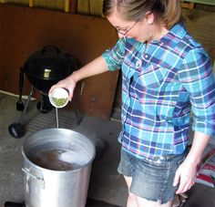 Audrey looks like she is enjoying adding the hops just a bit too much. Brewing Recipes, Homebrew Recipes, Beer Recipes, Beer Brewing, Home Brewing, Grain Foods, Wine And Spirits, Brewery, Wines