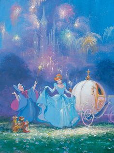 Walt Disney Cinderella by James Coleman Disney Dream, Disney Girls, Disney Love, Disney Magic, Disney And Dreamworks, Disney Pixar, Walt Disney Characters, Cinderella Art, Cinderella Carriage