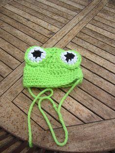 bonnet enfant grenouille crochet 14 mm