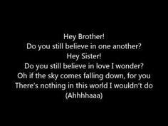Avicii ~ Hey Brother (Lyrics)