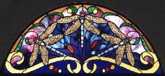 A new stairway window transom based on the classic dragonfly motif,