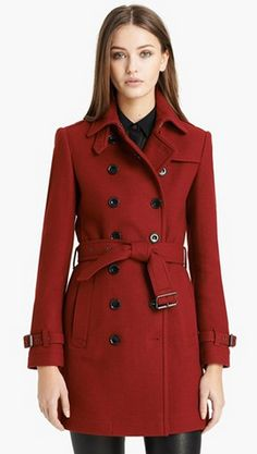 #Classic #trench #manteau #rouge #red