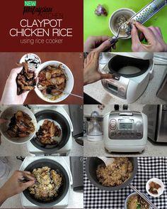 Easy Claypot Chicken Rice In Rice Cooker - 6 Ingredients - New Malaysian Kitchen Claypot Rice Recipe, Claypot Chicken Rice, Chicken Rice Recipes, Rice Cooker Recipes, Recipes Using Rice, Recipe Using, Mixed Rice Recipe, Steamer Recipes, How To Cook Rice