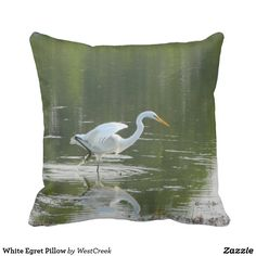 White Egret Pillow Thank you to the buyer in New York State!