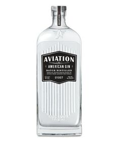 Aviation American Gin Unlike most dry gins, this liquor pairs juniper notes with lavender, cardamom, anise, and sarsaparilla. Design fanatics will love the rectangular bottle and bold black and white label.