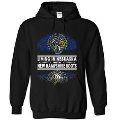 Living in Nebraska with New Hampshire Roots khtjkkbmcp T-Shirts, Hoodies. CHECK PRICE ==► https://www.sunfrog.com/States/Living-in-Nebraska-with-New-Hampshire-Roots-khtjkkbmcp-Black-Hoodie.html?id=41382