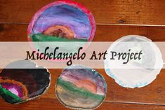 Michelangelo art project, fresco-secco painting. CC Cycle 1 Great Artists project.