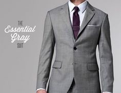 the essential gray suit Interview Attire, Gents Fashion, Sharp Dressed Man, Preppy Outfits, Male Style, Men's Style, Mens Suits, Gq, Dress To Impress