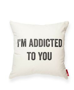 Addicted Muslin Throw Pillow