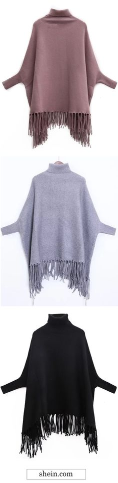 Warm fringe knitwear. Shop this with 40% off at shein.com.