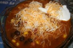 Crockpot Taco Soup//Weight Watcher Wednesday - Lovin' Our Chaos No Calorie Foods, Low Calorie Recipes, Ww Recipes, Crockpot Recipes, Soup Recipes, Cooking Recipes, Healthy Recipes, Recipies, Weight Watcher Taco Soup