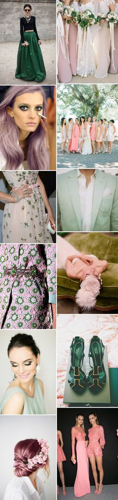 A Beautiful Inspiration Post Showing You How To Incorporate A Pink And Green Colour Scheme Into Your Wedding Day 0001 Pink And Green.