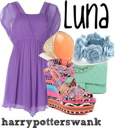 Harry Potter inspired fashion. Luna Lovegood by harrypotterswank  http://harrypotterswank.tumblr.com/post/29859289998/not-a-specific-outfit-from-the-books-movies-i-was