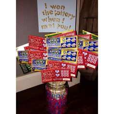 DIY Valentines Day gift for Him I won the lottery when I met you