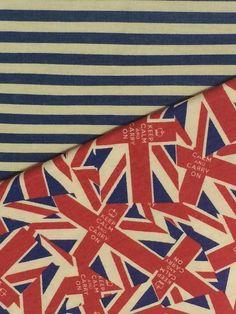 Kit de Tecidos Bandeiras Britânicas - Boutique do Patchwork