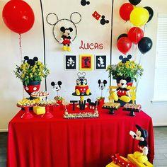 Mickey Mouse Theme Party, Mickey Mouse Birthday Decorations, Mickey 1st Birthdays, Fiesta Mickey Mouse, Mickey Mouse First Birthday, Mickey Mouse Baby Shower, Mickey Mouse Clubhouse Birthday Party, Baby Mickey, Ideas