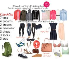 Going on a round the world adventure? Check out my packing lists, which will keep you packing light and stylish at the same time!