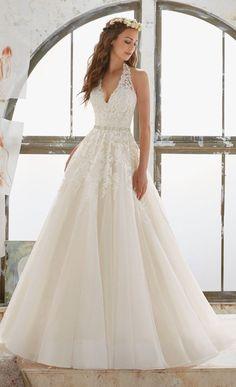 halter neckline Morilee Madeline Gardner wedding dresses 2017 collection