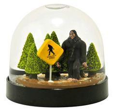 Sasquatch! aka Bigfoot snow globe