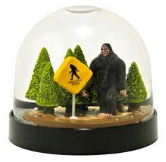 Sasquatch! aka Bigfoot snow globe