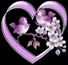 Paarse harten valentijn plaatjes, valentijnanimaties en animatieplaatjes