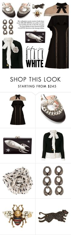 """""""Simply pretty"""" by pensivepeacock ❤ liked on Polyvore featuring self-portrait, Rochas, Charlotte Olympia, Vetements, Chanel, Amrapali and Gucci"""
