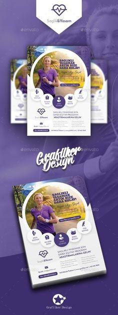 Buy Healthy Life Flyer Templates by grafilker on GraphicRiver. Healthy Life Flyer Templates Fully layered INDD Fully layered PSD 300 Dpi, CMYK IDML format open Indesign or late. Brochure Layout, Brochure Template, Psd Templates, Flyer Layout, Creative Flyers, Creative Design, Web Design, Modele Flyer, Magazin Design