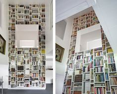 Love books. And this? Could probably be an ikea hack if you purchased a bunch of their shelves...