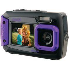 Coleman 20.0 Megapixel Duo2 Dual-screen Waterproof Digital Camera (purple)