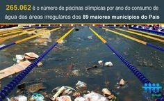 São mais de 265 mil piscinas olímpicas de água não faturadas nas áreas irregulares das grandes cidades brasileiras. Se interessou pelo assunto? O dado faz parte do estudo divulgado pelo Trata Brasil ontem e está disponível http://www.tratabrasil.org.br/areas-irregulares