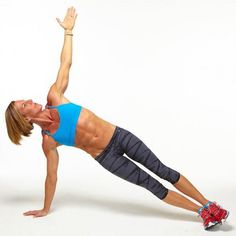 Day 4 Plank Challenge - High Side Plank. The Ultimate Plank Challenge - Ab Exercises | Fitness Magazine