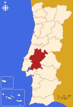 Localização do Distrito de Santarém em Portugal