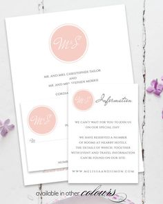 Modern Melissa invitation set for your wedding