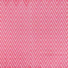 Coral Tall Chevron Fabric