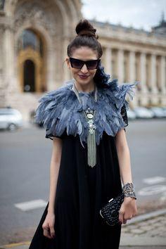 Street Style Spring 2013 - Paris Fashion Week Street Style - Harpers BAZAAR durupaper.com #kate_spade