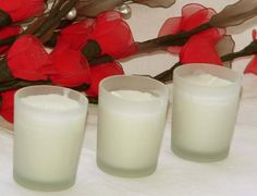 Frosted White Votive Candle in Glass Holder - Small - 6cm by 5cm - $1.20