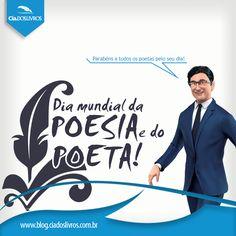 """#ProfHoraciocomenta que hoje é o Dia mundial da poesia e do poeta Como já dizia  José de Alencar, """"O poeta é o cidadão do belo e da arte""""."""