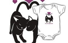 Valentines Day Cats Kids Clothes #cats #kittens #love #valentine #pets
