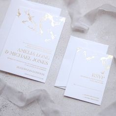 Marble Wedding Invitation Cards