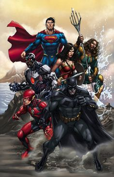 Drawing Comics Justice League by Ardian Syaf - Visit to grab an amazing super hero shirt now on sale! Marvel Dc Comics, Heros Comics, Dc Comics Superheroes, Dc Comics Characters, Dc Comics Art, Dc Heroes, Comic Book Heroes, Flash Comics, Aquaman