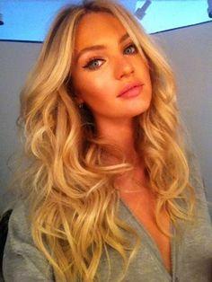 Love her hair & makeup!
