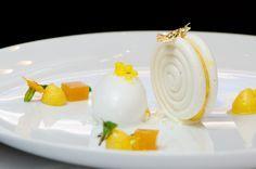 Passion Fruit Meringue with Coconut Sorbet