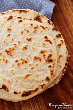 Pão Chapati - Indiano, para ver a receita desse pão que não vai fermento, clique na imagem para ir ao Manga com Pimenta.