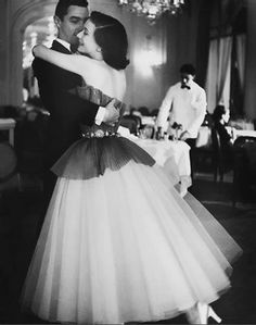 Schiaparelli for dancing at the hotel Plaza Athenee, Paris, 1953.