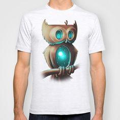 T-Shirt Painting Designs | Daily Tee: Night Owl t-shirt designed by Chump Magic - fancy-tshirts ...