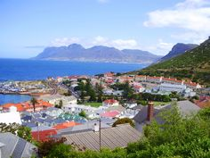 Kalk Bay, a nice harbor village located on the East Coast of the Cape Peninsula, south of Cape Town. Photograph taken from Boyes Drive! Copyright from Julian Knutzen Harbor Village, Cape Town, East Coast, South Africa, Dolores Park, Places To Visit, Photograph, Mountains, Nice